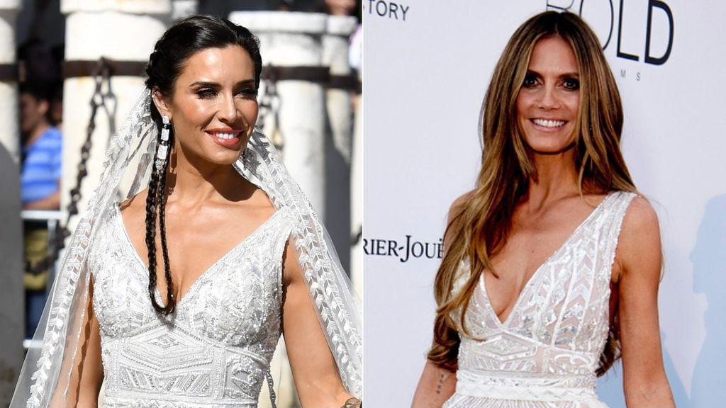 Heidi Klum lució el vestido de novia de Pilar Rubio un año antes que ella: vota quién lo lleva mejor