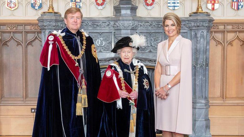 Guillermo y Máxima de Holanda posan con Isabel II
