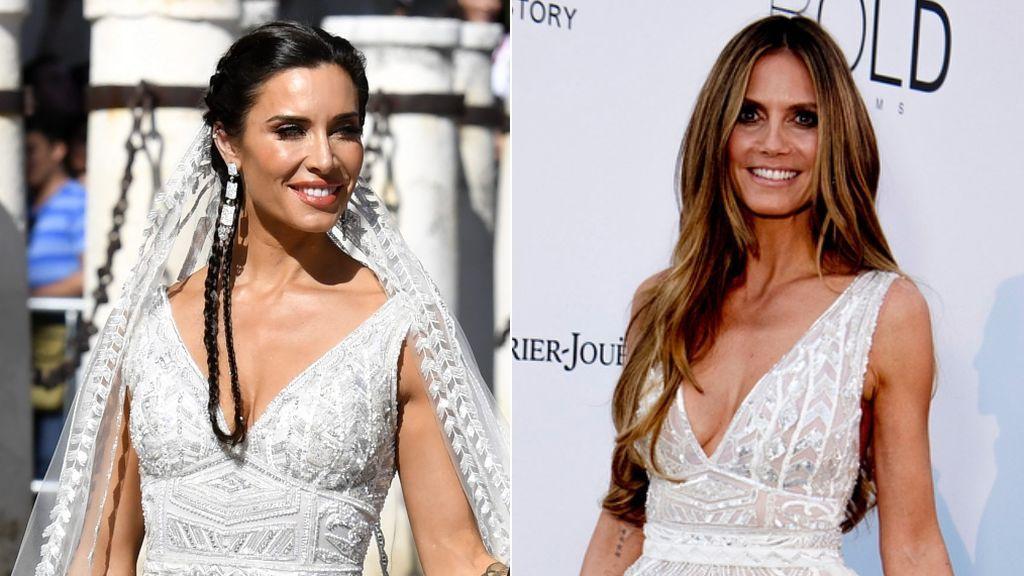 Heidi Klum ya lució el vestido de novia de Pilar Rubio: vota quién lo lleva mejor