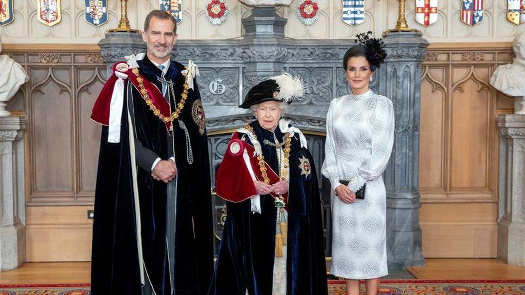El rey Felipe VI, investido caballero de la Orden de la Jarretera