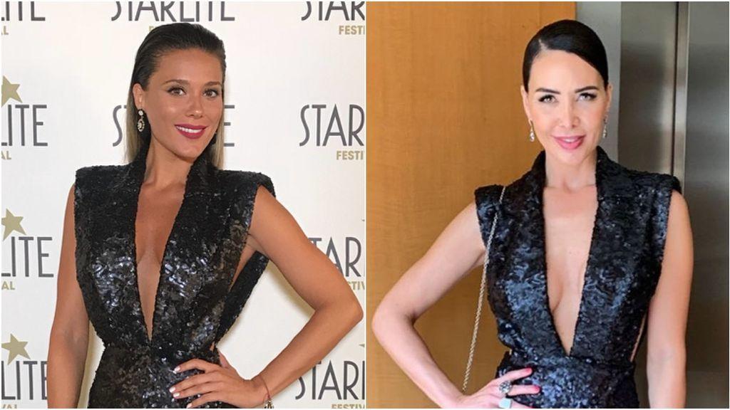Lorena Gómez lució primero el vestido que Vania Millán eligió para la boda Ramos Rubio: vota quién lo lleva mejor
