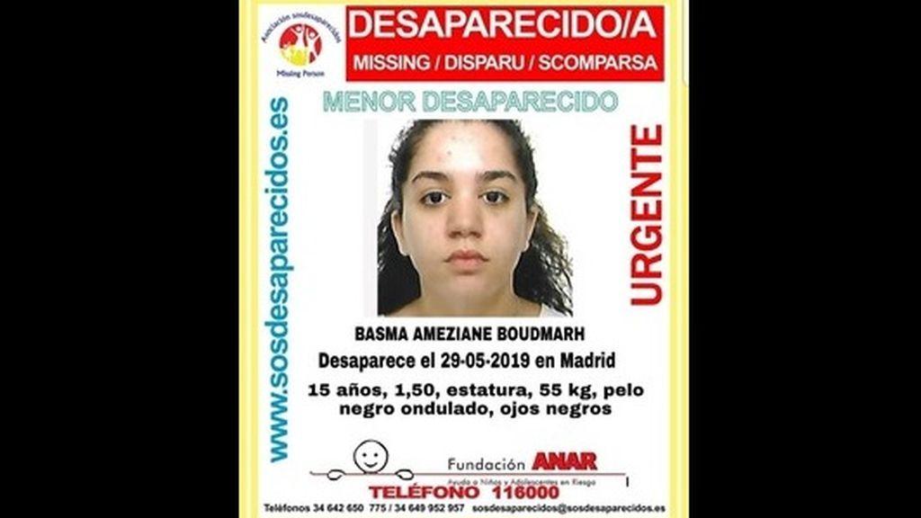 Buscan a Basma, una menor de 15 años desparecida desde hace 19 días en Madrid