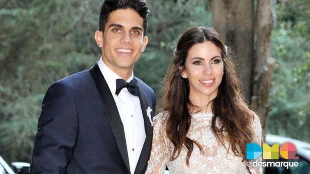 Bartra recuerda uno de los días más felices de su vida junto a Melissa Jiménez