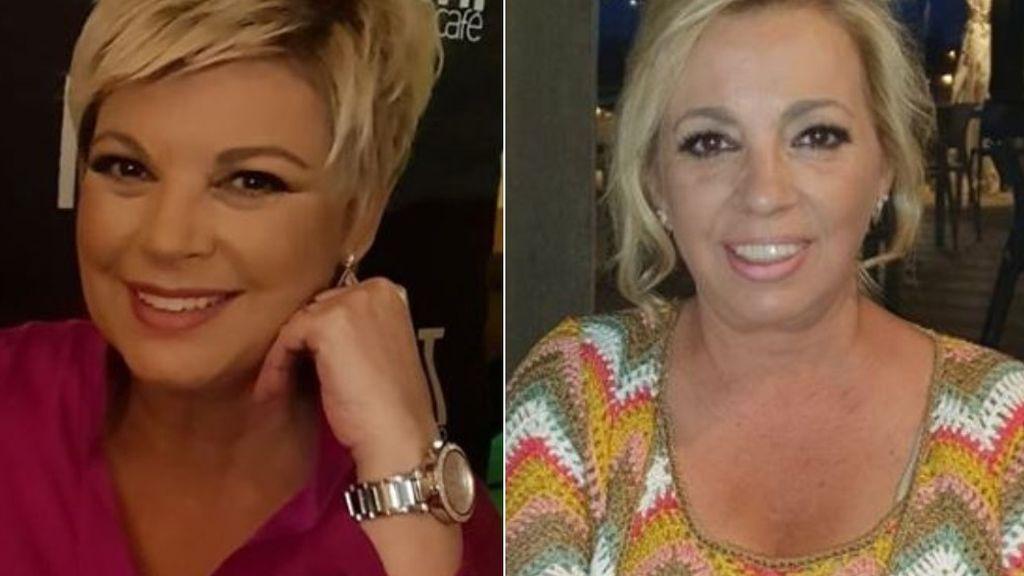 """Terelu Campos y Carmen Borrego posan radiantes en el cumpleaños de María Teresa: """"Las tres juntas"""""""