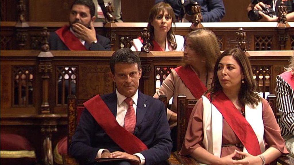 Manuel Valls, en el pleno de Barcelona