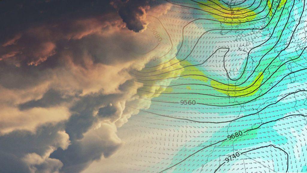 Llega una vaguada por el norte: tormentas fuertes y desplome de los termómetros tres días seguidos