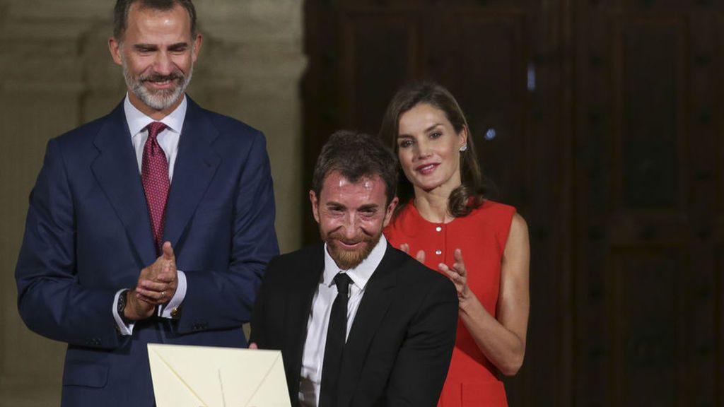 Pablo Motos con los Reyes
