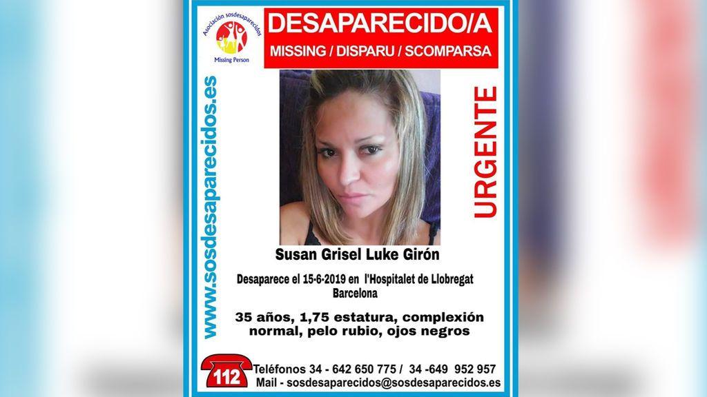 Buscan a Susan Grisel Luke, de 35 años, desaparecida en Hospitalet de Llobregat desde el 15 de junio