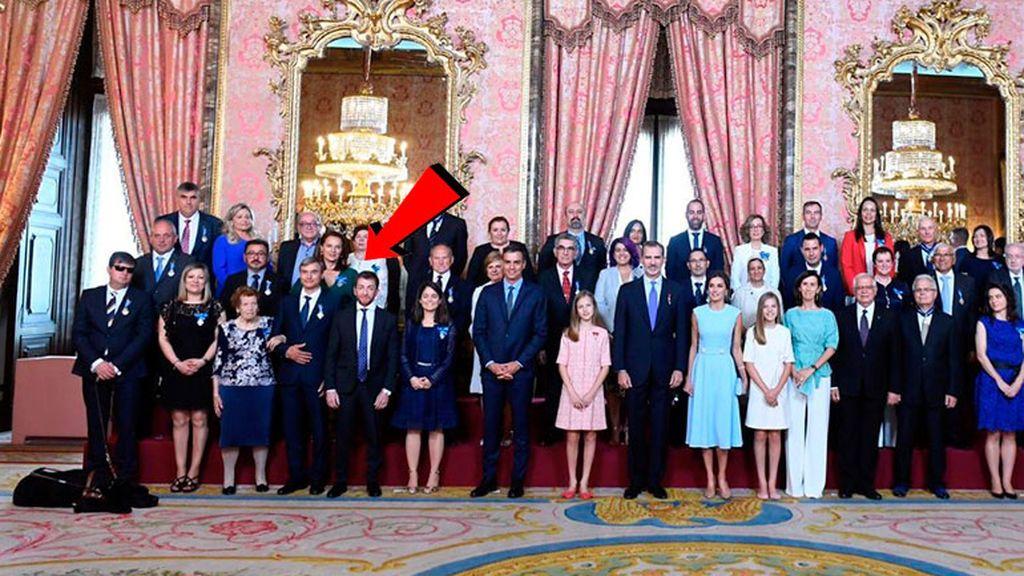 Pablo Motos en la foto del acto de conmemoración del 5º aniversario de Felipe VI