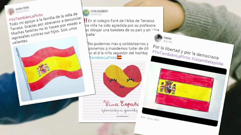 """Las redes sociales se vuelcan con la menor presuntamente agredida por pintar la bandera de España: """"Yo también la pinto"""""""