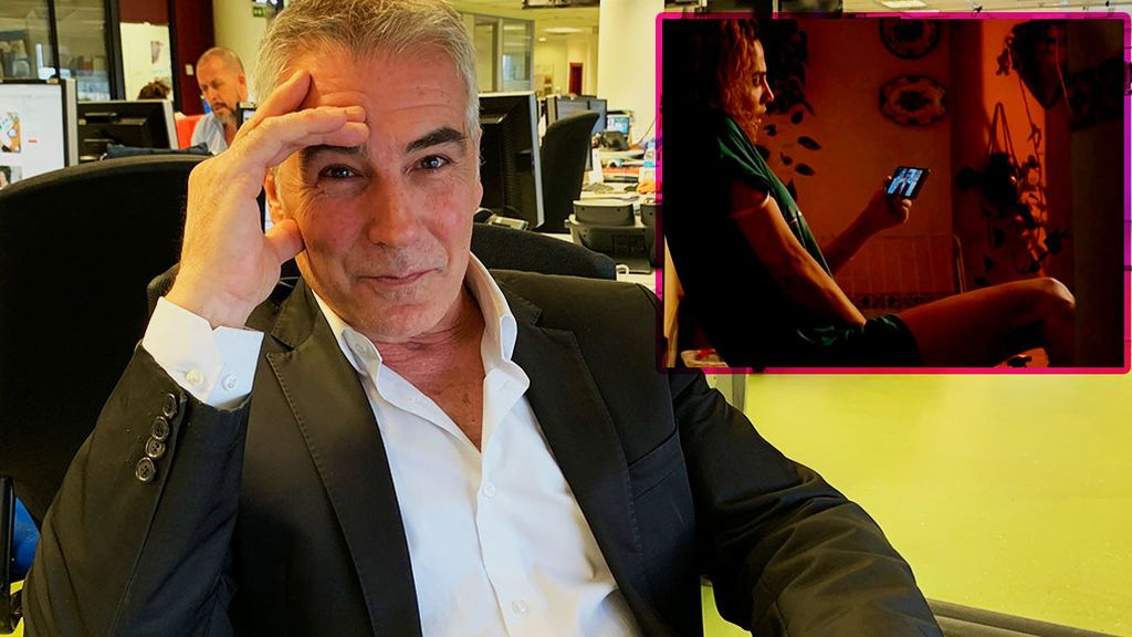Así reacciona David Cantero al ver su momentazo erótico en 'Señoras del (h)ampa'