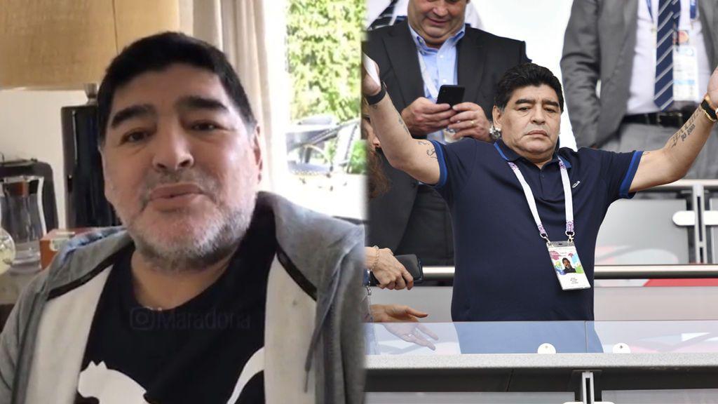 """Maradona desmiente estar sufriendo de Alzheimer: """"Yo no me estoy muriendo"""""""