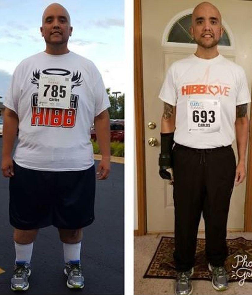 Un hombre pierde 204 kilogramos al descubrir su pasión por correr