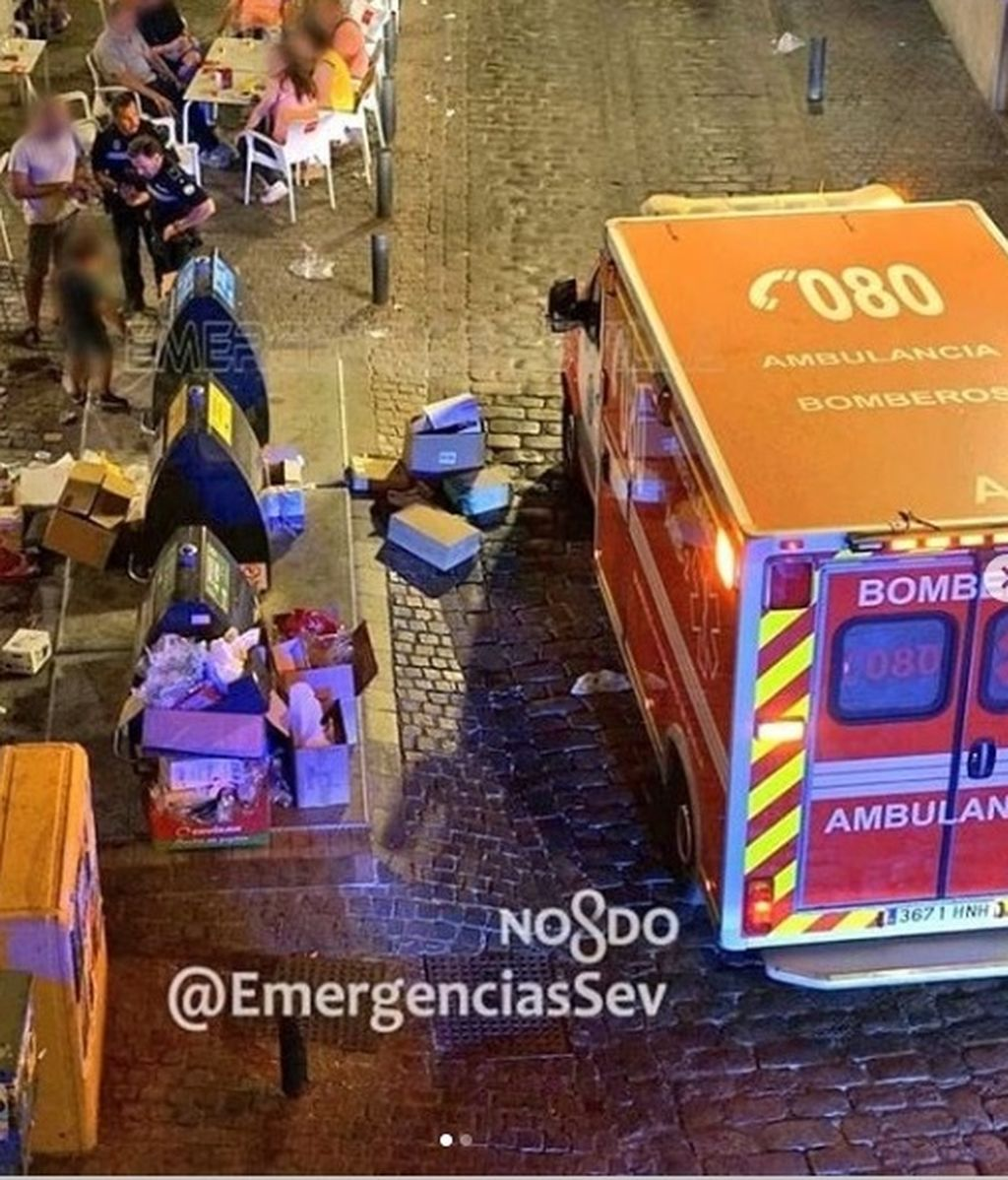 Rescatado ileso un niño tras caer a un contenedor soterrado en Sevilla