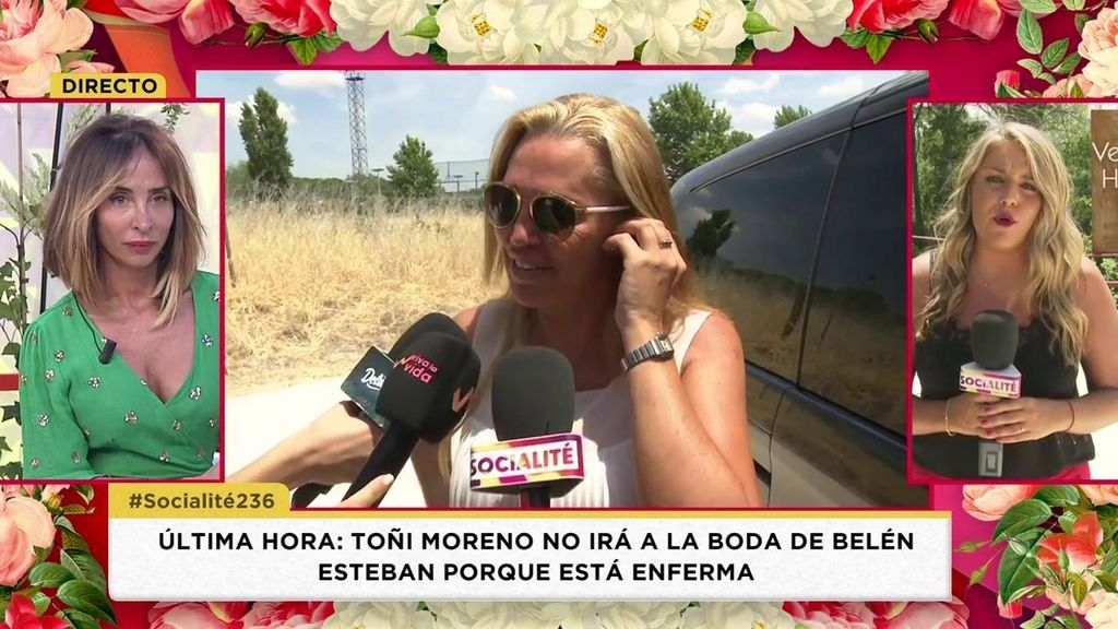 Toñi Moreno y Edmundo Arrocet, dos ausencias en la boda de Belén Esteban