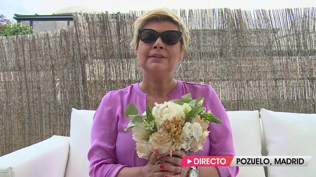 Terelu ha recibido el ramo de novia de Belén