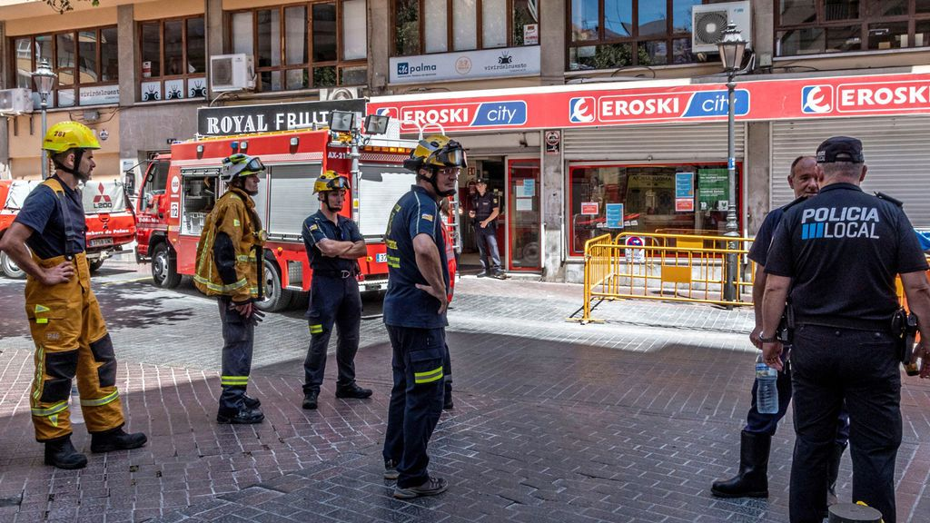 Siete heridos en Palma tas derrumbarse el techo de un supermercado
