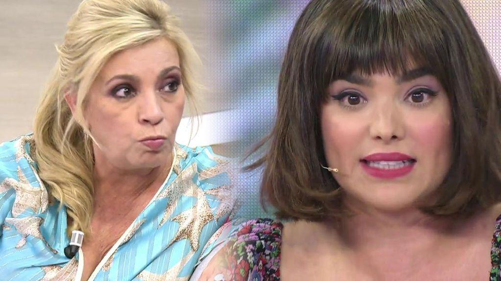 """Carmen Borrego se enfada con Paloma González por criticar su vestido: """"No es lavanda, es malva"""""""