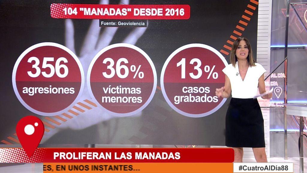Desde la violación de San Fermín en 2016 se han dado hasta 104 casos más de nuevas manadas