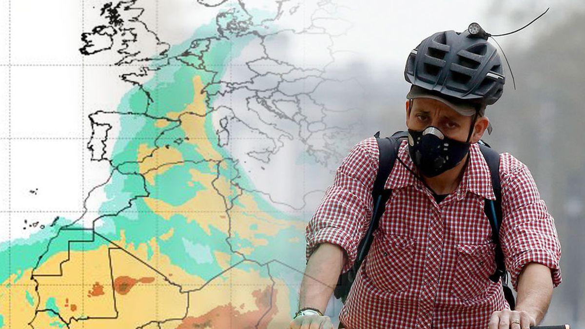 El calor procedente de África no viene solo: el polvo en suspensión empeorará el aire