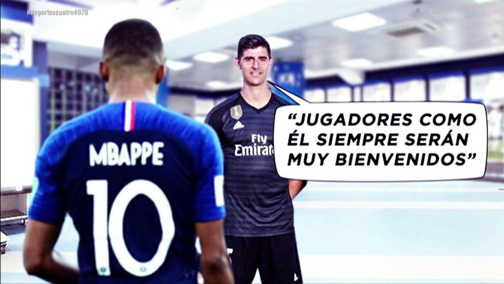 Los jugadores del Real Madrid abren la puerta del vestuario blanco a Mbappé