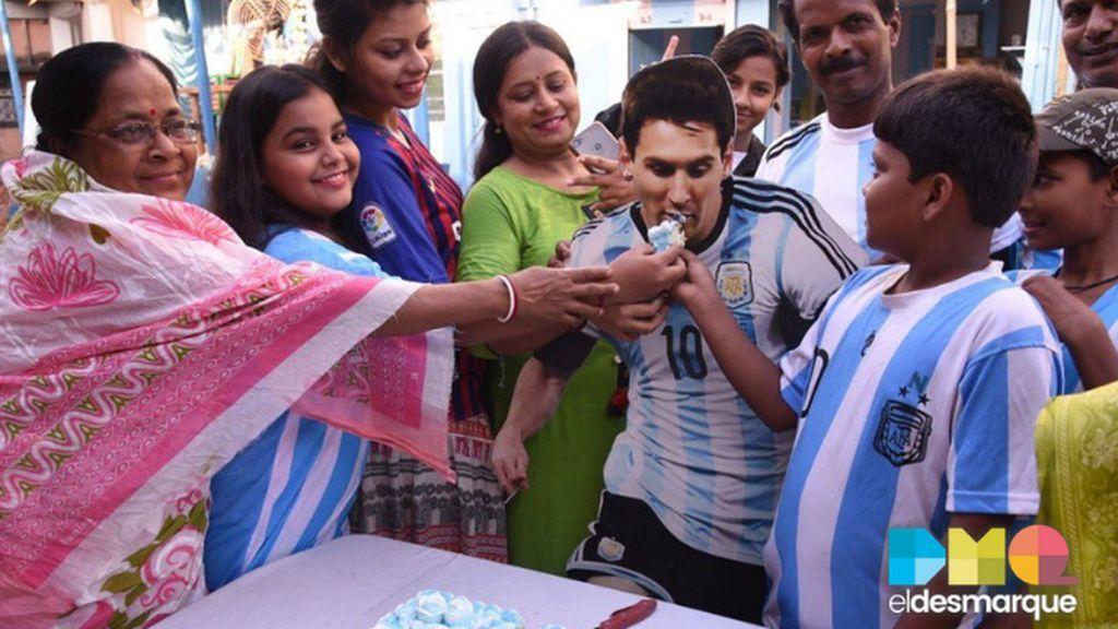 Las imágenes virales por el cumpleaños de Leo Messi