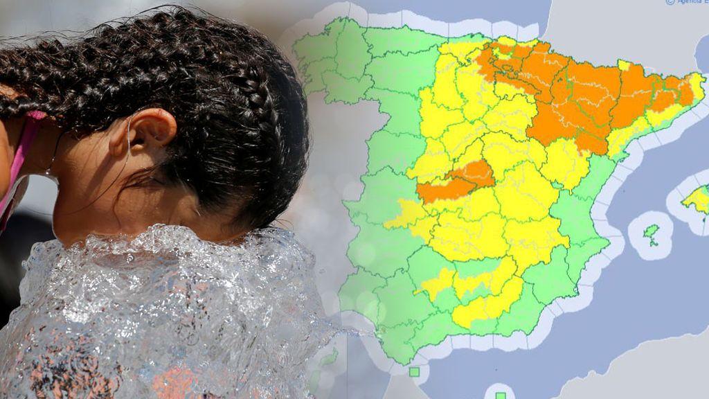 Aviso naranja por el calor: estas son las zonas donde la Aemet advierte del riesgo