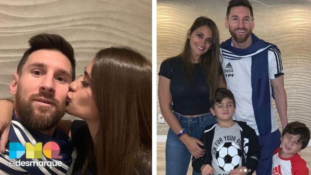 Messi y su familia
