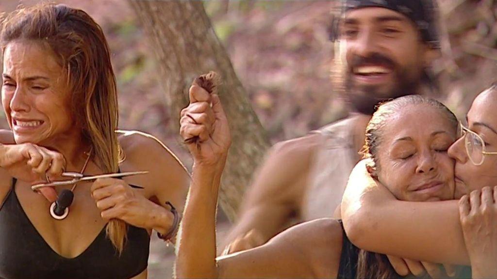 Isabel Pantoja y Monica Hoyos se cortan el pelo por una barbacoa y merienda para todos