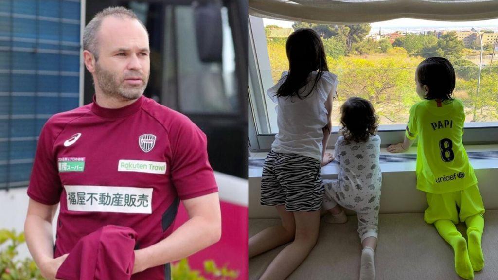 """La emoción de Andrés Iniesta tras la bienvenida de sus hijos al llegar a casa: """"Que te reciban así..."""""""
