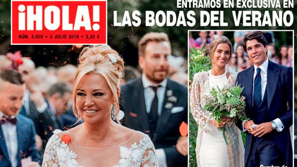 La foto de los 80.000 euros: primera imagen de la boda de Belén Esteban