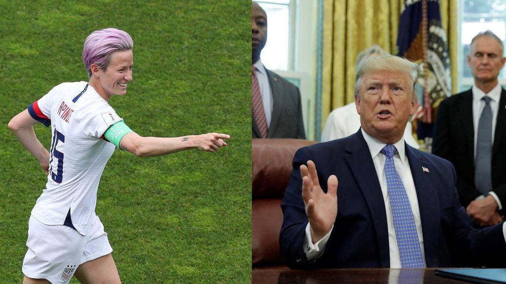 """Trump contesta a Rapinoe: """"Megan nunca le debería faltar el respeto a nuestro país"""""""