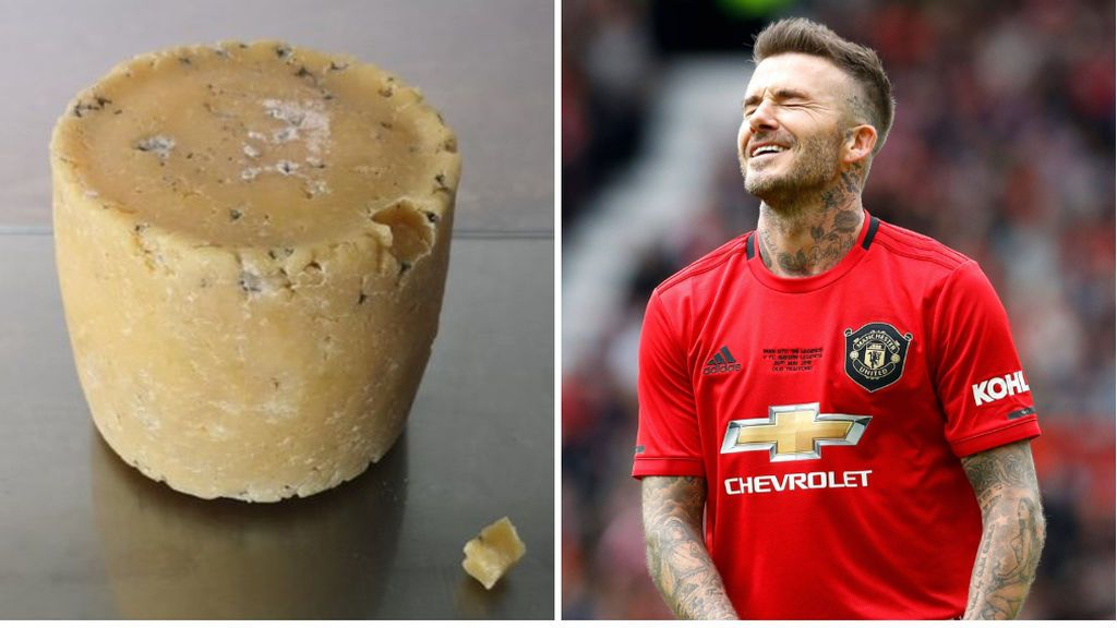 El museo Victoria and Albert pone a la venta queso hecho con la piel muerta de los pies de David Beckham