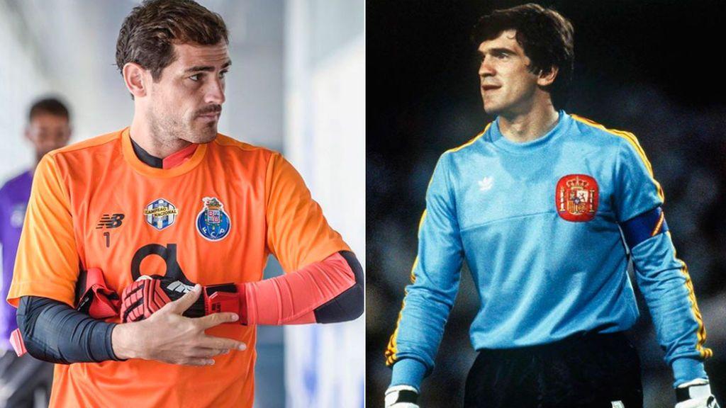 """La especial felicitación de Casillas a Arconada por su cumpleaños: """"Si quieres ser portero, tienes que comer sardinas"""""""