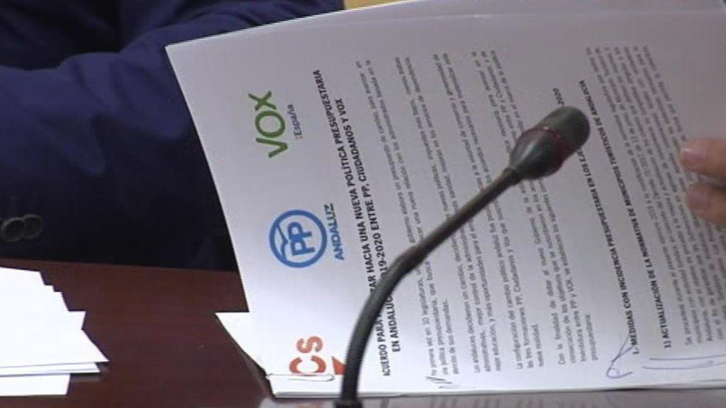 Firma presupuesto Andalucía