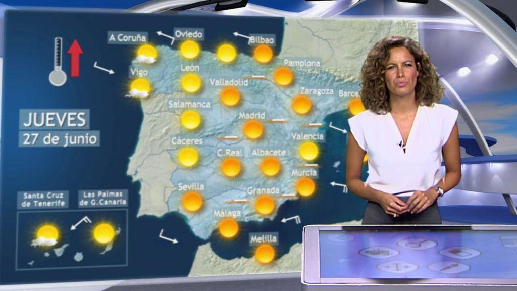 Galicia, Asturias y Canarias, la envidia del país: llegaremos a los 40ºC en el valle del Ebro y el centro el jueves