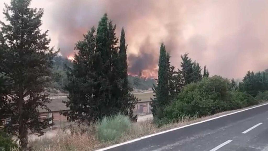 4.000 hectáreas arrasadas en el incendio de Flix