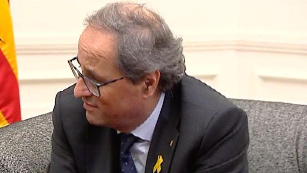 El Tribunal Superior de Cataluña propone juzgar a Torra por desobediencia por no retirar los lazos amarillos