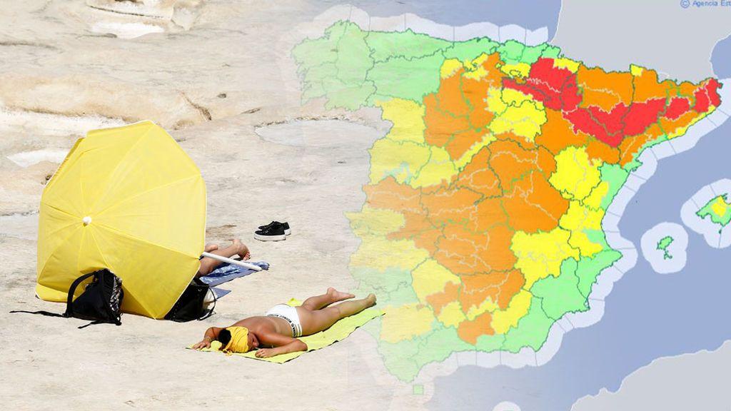 Aviso rojo por calor: las zonas donde más riesgo va a haber
