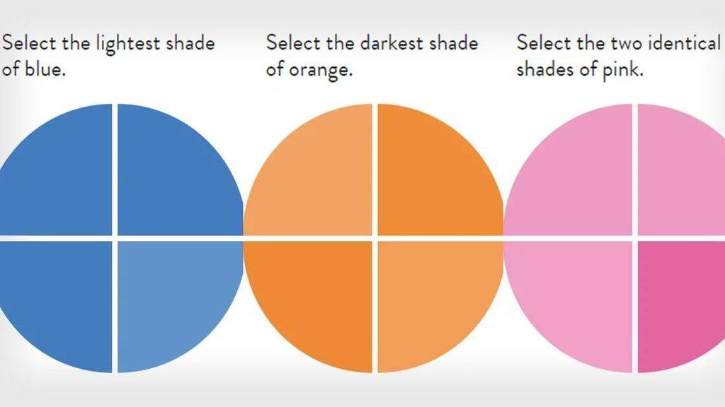 Menos del 1% de las población es capaz de lograr la puntuación perfecta en en una prueba de color