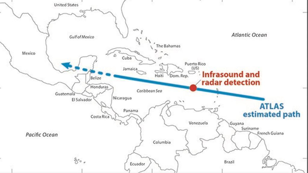 Detectado un asteroide de 4 metros horas antes de chocar contra la Tierra