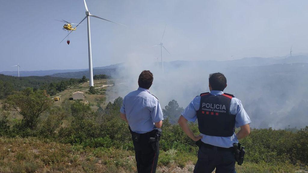 Los Mossos d'Esquadra comienzan a investigar el incendio de Tarragona