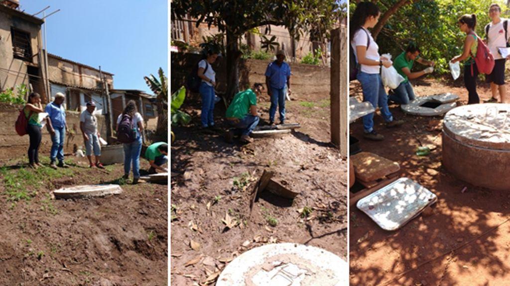 Contenedores domésticos para reducir virus y bacterias de las aguas vertidas en las áreas empobrecidas