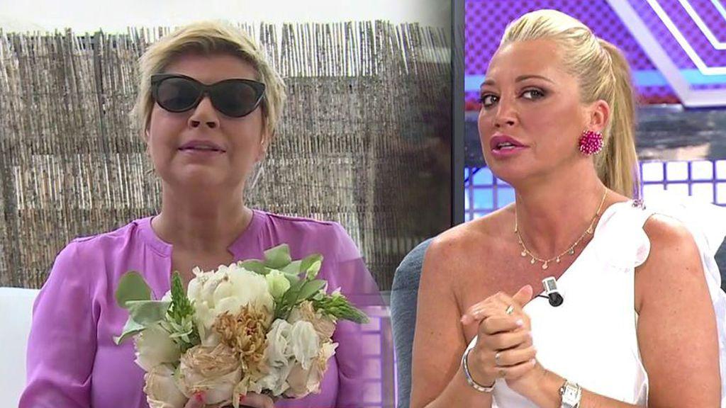 Belén Esteban explica por qué le dio el ramo de novia a Terelu