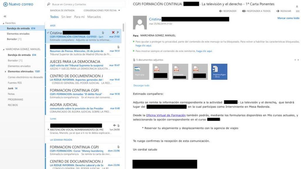 Anonymous Catalonia accede al correo profesional del juez de procès
