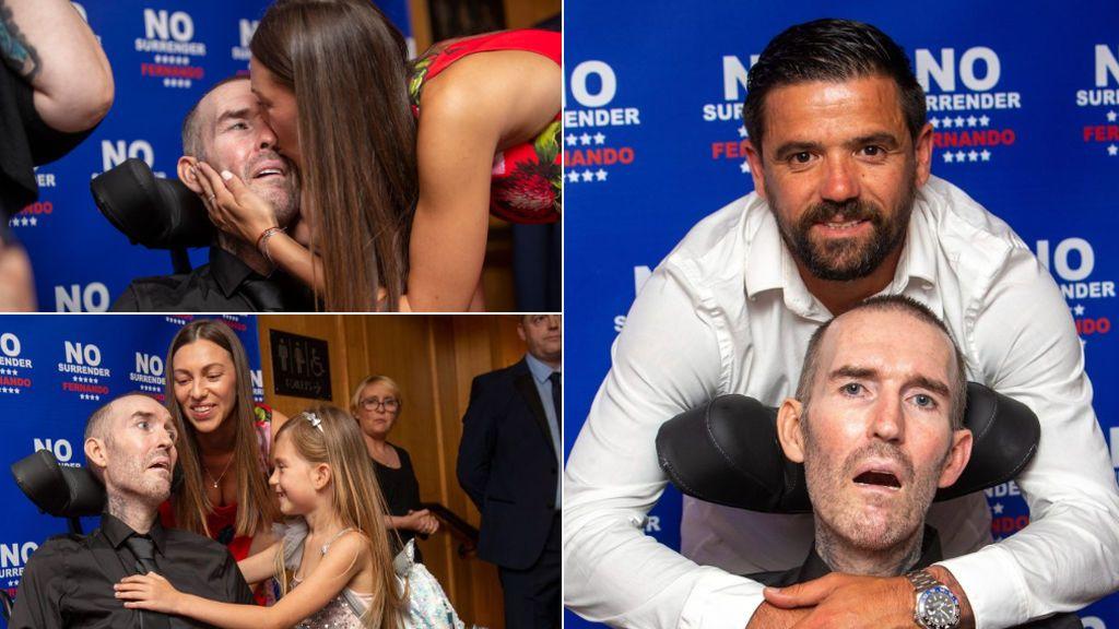 """La emotiva despedida de Fernando Rickse, ex futbolista enfermo de ELA: """"Solo demuestra lo mucho que le amamos"""""""