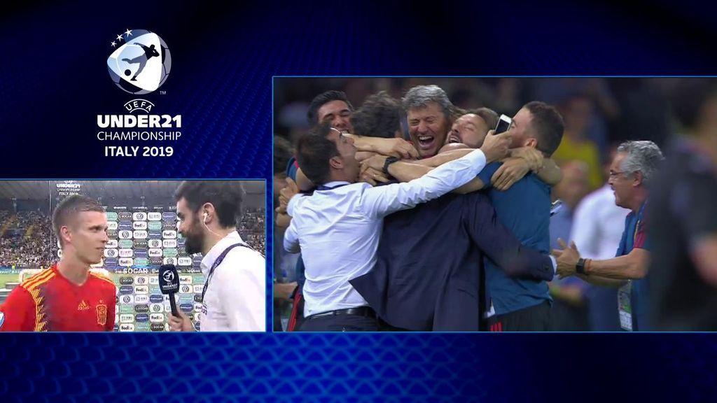 """Dani Olmo, MVP de la final: """"Sin la confianza del míster no hubiera estado aquí"""""""
