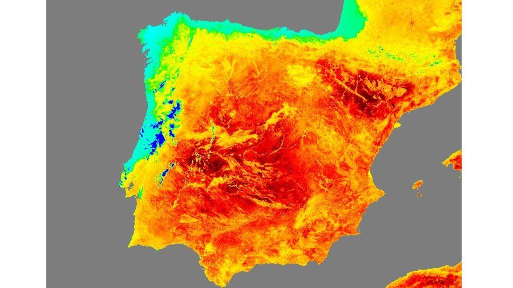 """""""¡Caliente!"""". Así define la Agencia Espacial Europea la ola de calor en España"""