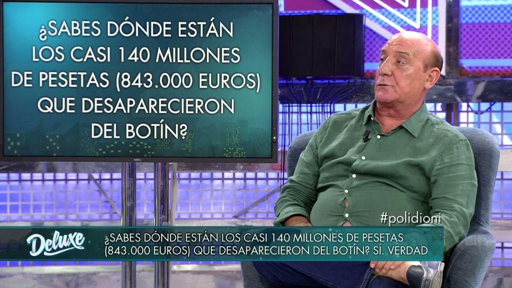 Dioni habla del paradero de los 140 millones que desaparecieron del botín