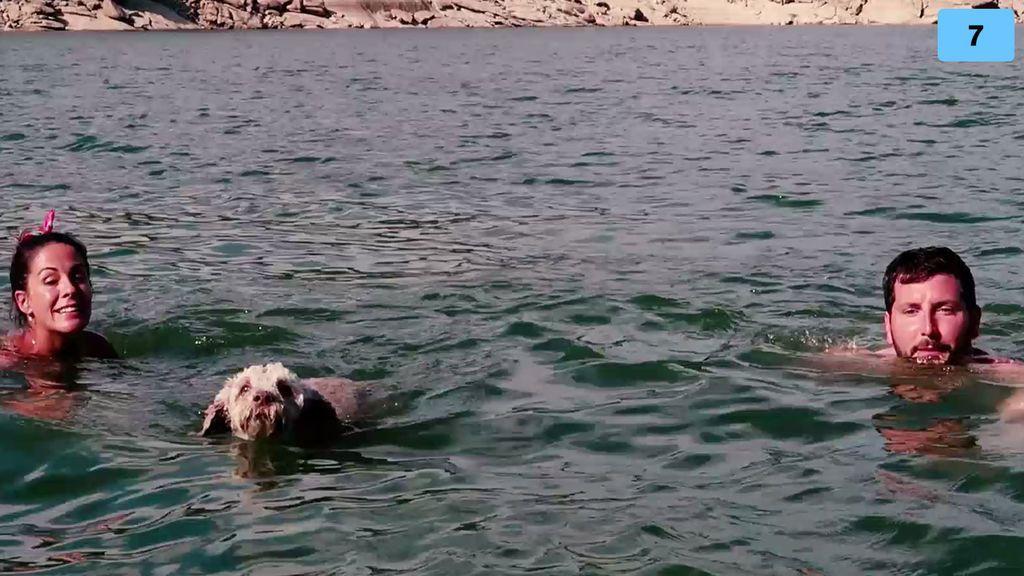 La primera vez de Teddy en el agua: Susana y Manu se lo llevan al pantano (2/2)